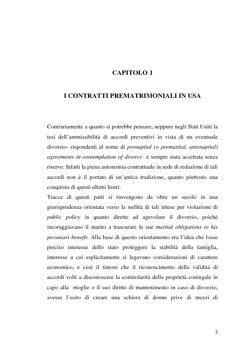 Anteprima della tesi: I contratti prematrimoniali, Pagina 3