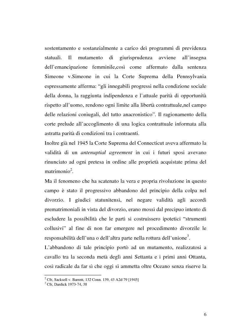 Anteprima della tesi: I contratti prematrimoniali, Pagina 4