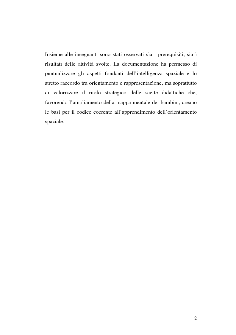 Anteprima della tesi: L'apprendimento dei concetti topologici nella scuola dell'infanzia, Pagina 2