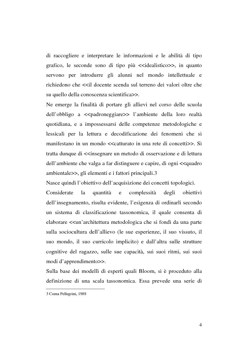 Anteprima della tesi: L'apprendimento dei concetti topologici nella scuola dell'infanzia, Pagina 4