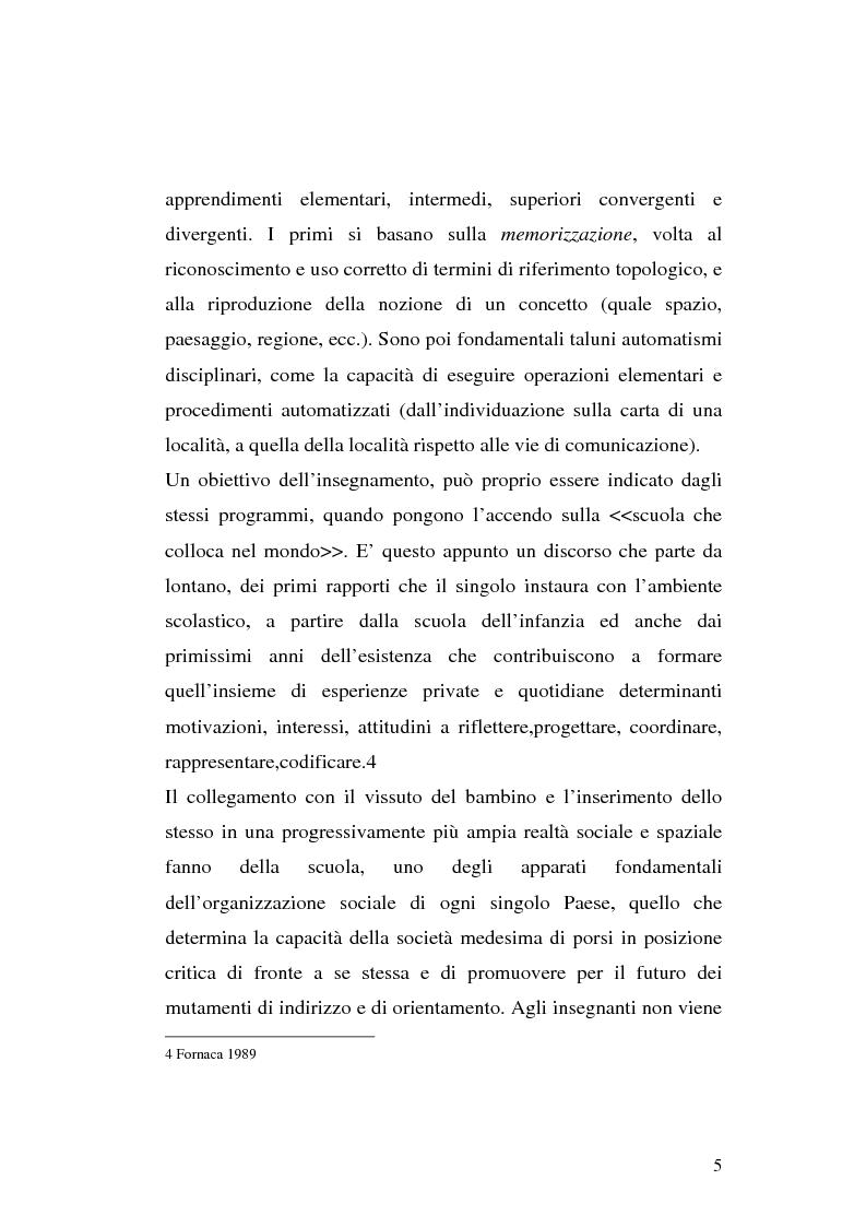 Anteprima della tesi: L'apprendimento dei concetti topologici nella scuola dell'infanzia, Pagina 5