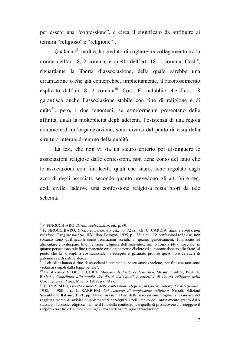 Anteprima della tesi: La nozione di confessione religiosa nell'ordinamento giuridico italiano e spagnolo, Pagina 8