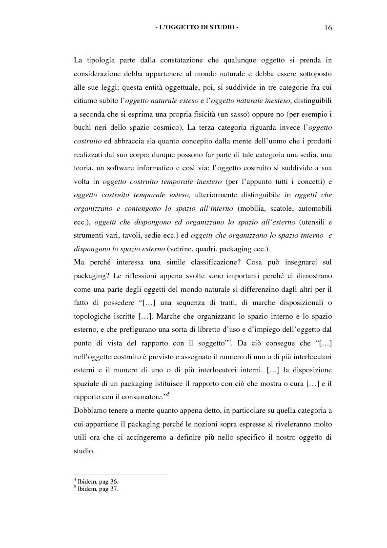 Anteprima della tesi: Il packaging come artefatto comunicativo. Una proposta per superare l'omologazione nel design., Pagina 13
