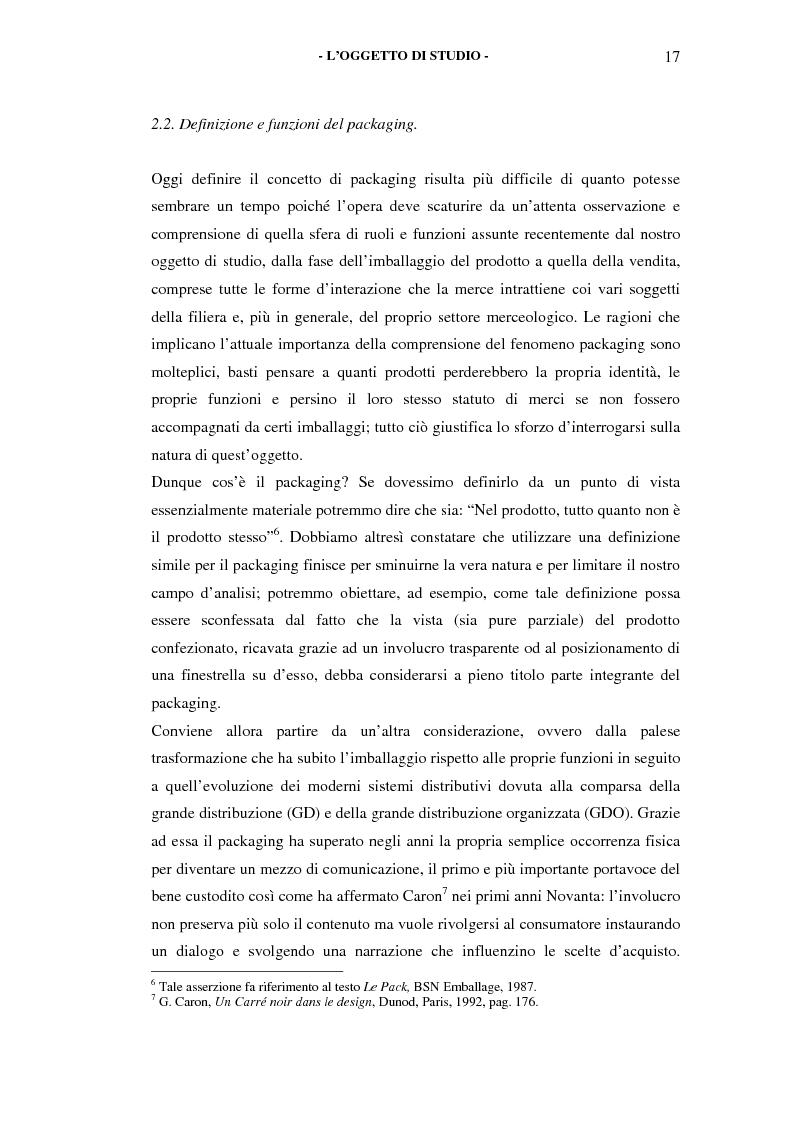 Anteprima della tesi: Il packaging come artefatto comunicativo. Una proposta per superare l'omologazione nel design., Pagina 15