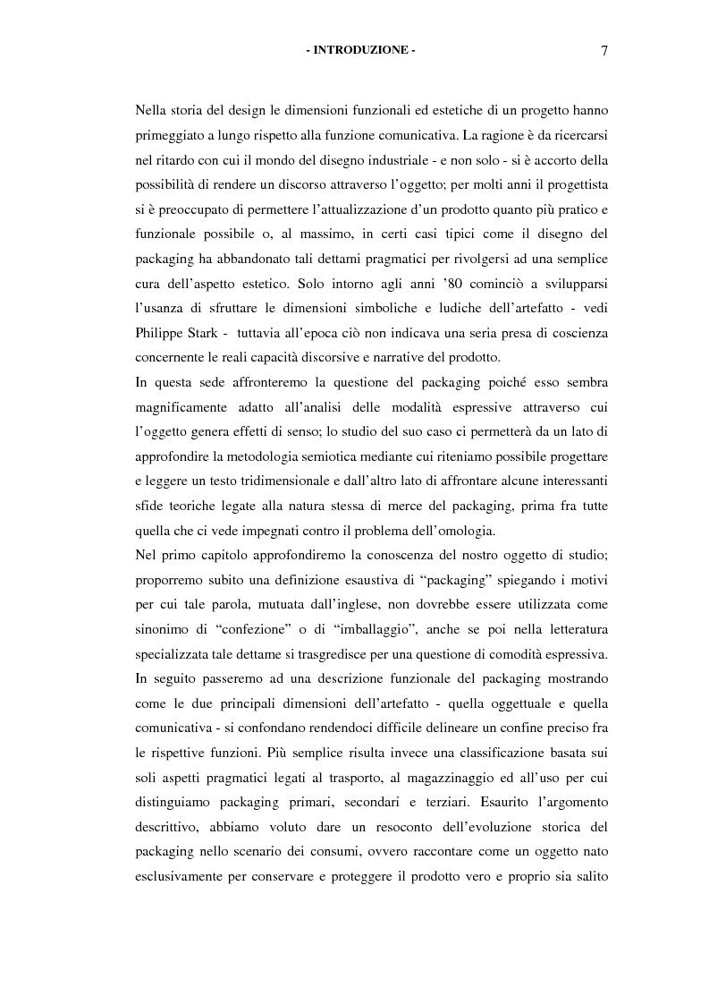Anteprima della tesi: Il packaging come artefatto comunicativo. Una proposta per superare l'omologazione nel design., Pagina 2