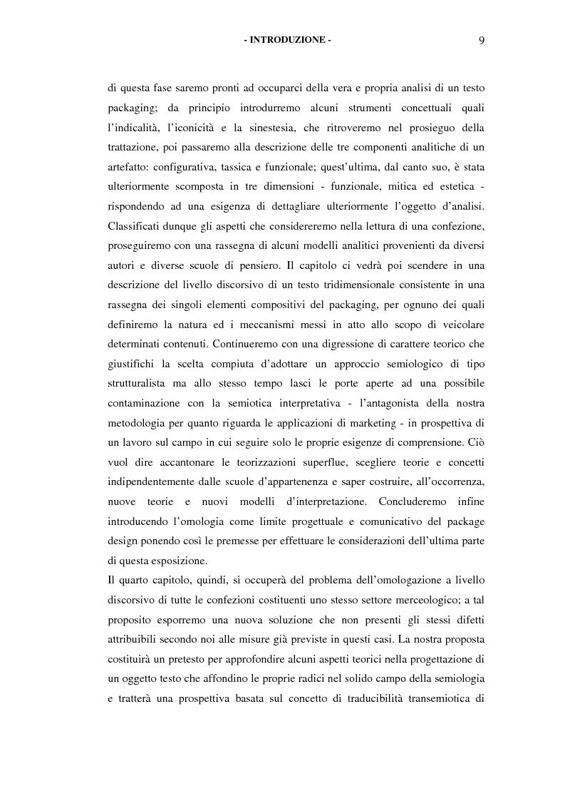 Anteprima della tesi: Il packaging come artefatto comunicativo. Una proposta per superare l'omologazione nel design., Pagina 4