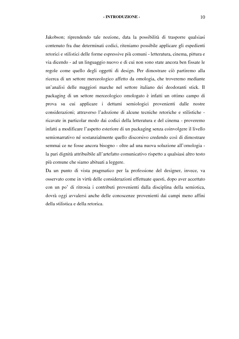 Anteprima della tesi: Il packaging come artefatto comunicativo. Una proposta per superare l'omologazione nel design., Pagina 5
