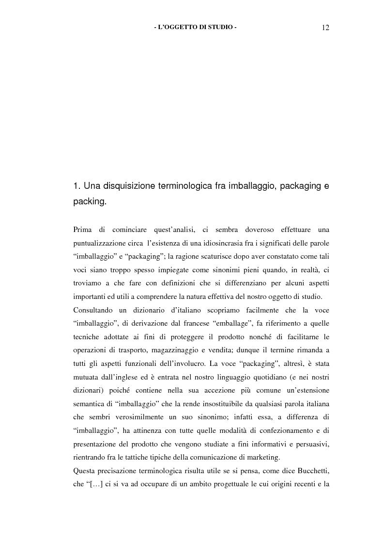 Anteprima della tesi: Il packaging come artefatto comunicativo. Una proposta per superare l'omologazione nel design., Pagina 7