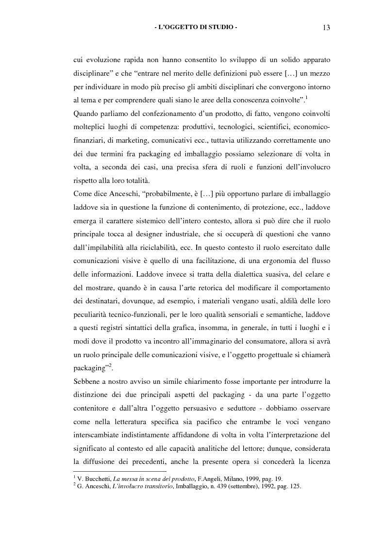 Anteprima della tesi: Il packaging come artefatto comunicativo. Una proposta per superare l'omologazione nel design., Pagina 8