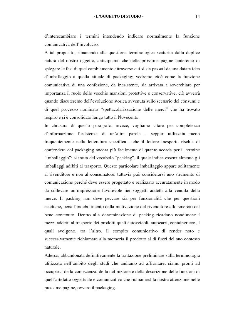 Anteprima della tesi: Il packaging come artefatto comunicativo. Una proposta per superare l'omologazione nel design., Pagina 9