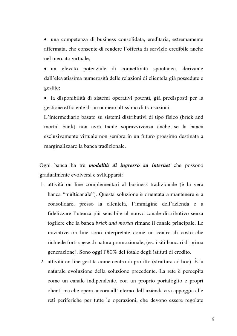Anteprima della tesi: Il bilancio di esercizio della banca on-line, Pagina 5