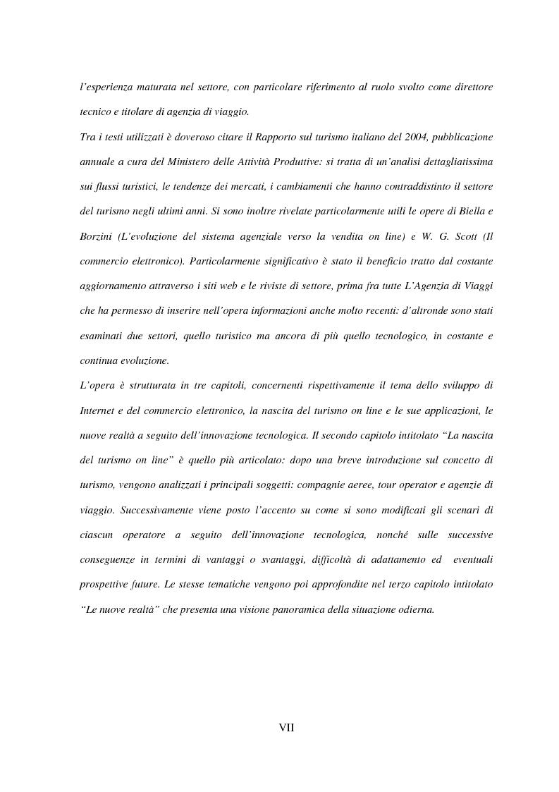 Anteprima della tesi: Il turismo on line: dalla nascita del commercio elettronico ai nuovi fenomeni di consumo turistico, Pagina 3