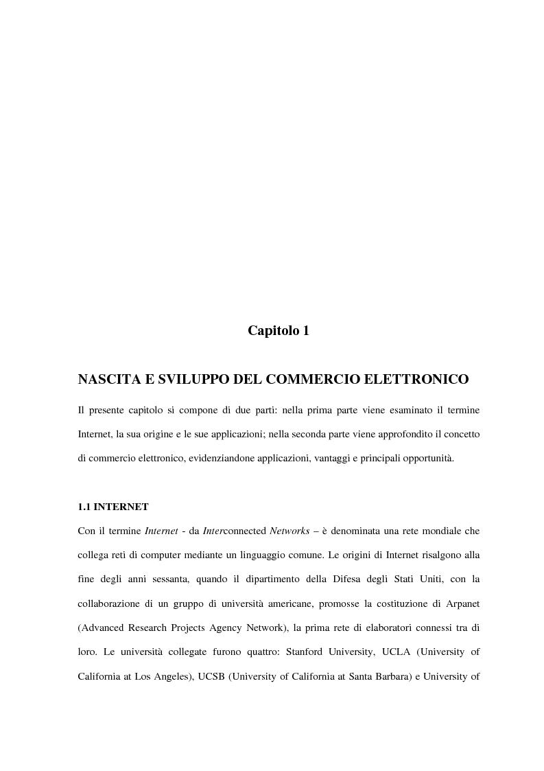 Anteprima della tesi: Il turismo on line: dalla nascita del commercio elettronico ai nuovi fenomeni di consumo turistico, Pagina 4