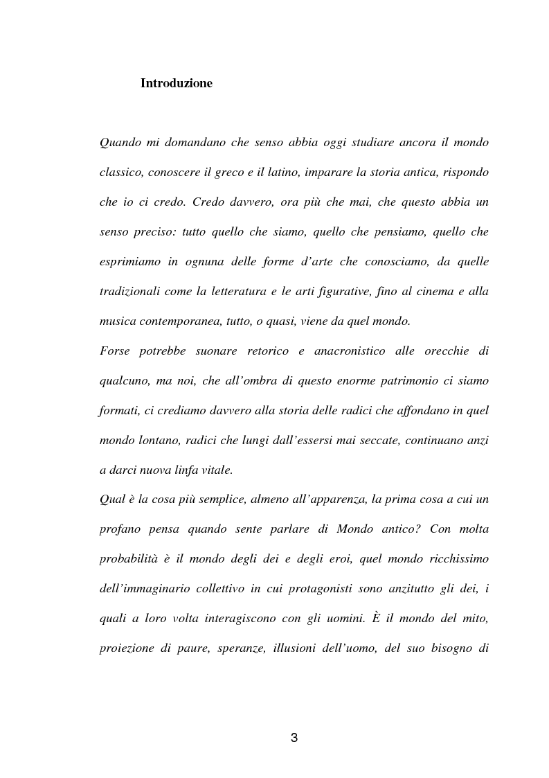 Anteprima della tesi: La fortuna del mito di Orfeo ed Euridice, Pagina 1