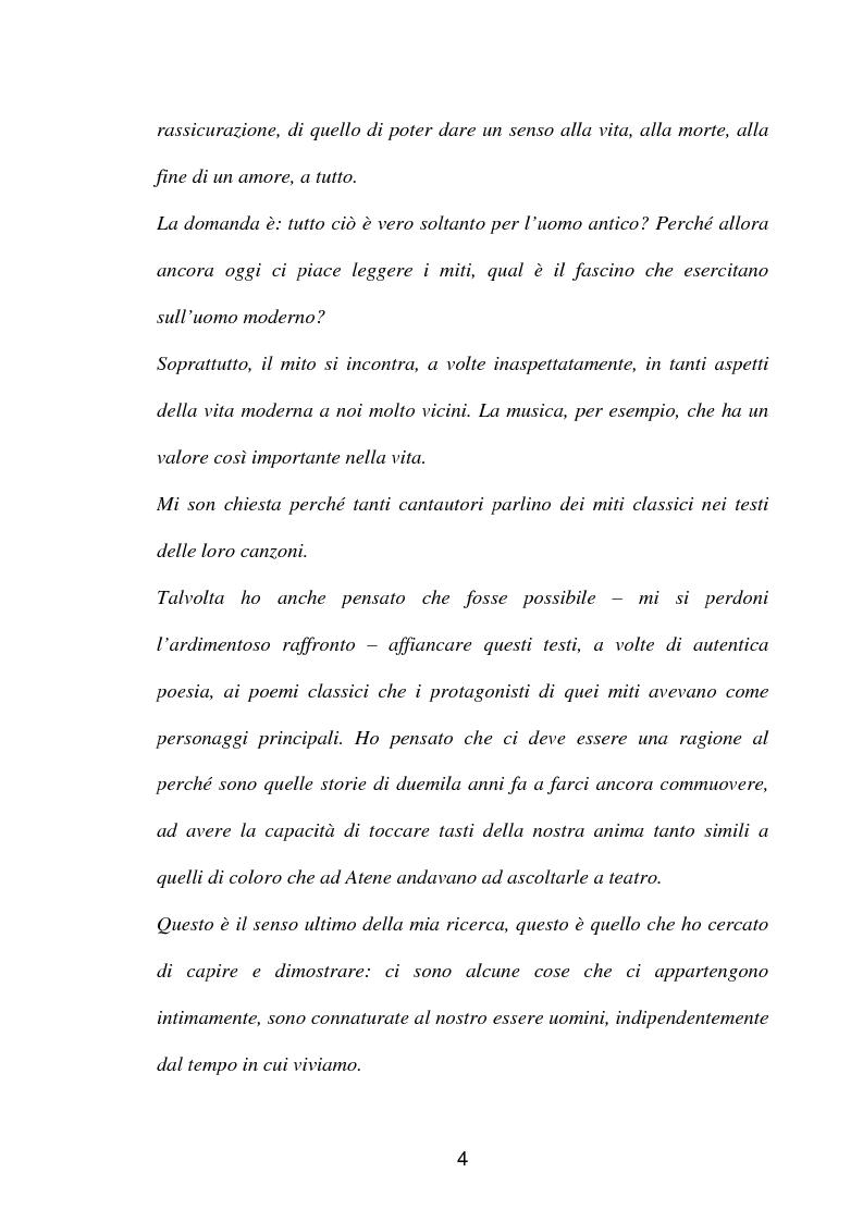 Anteprima della tesi: La fortuna del mito di Orfeo ed Euridice, Pagina 2