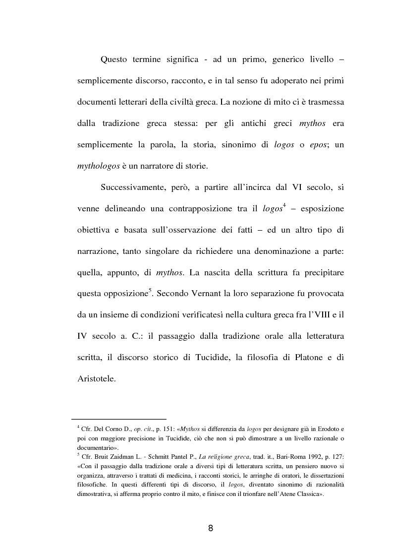 Anteprima della tesi: La fortuna del mito di Orfeo ed Euridice, Pagina 6