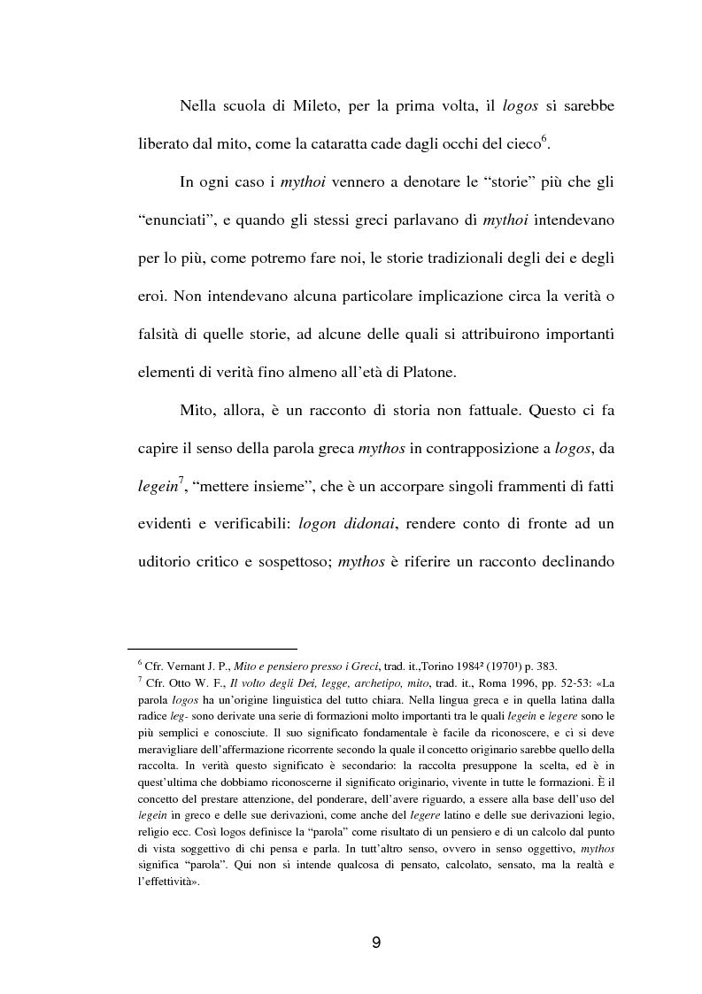 Anteprima della tesi: La fortuna del mito di Orfeo ed Euridice, Pagina 7