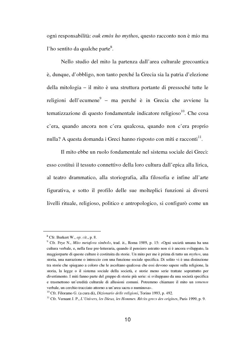 Anteprima della tesi: La fortuna del mito di Orfeo ed Euridice, Pagina 8