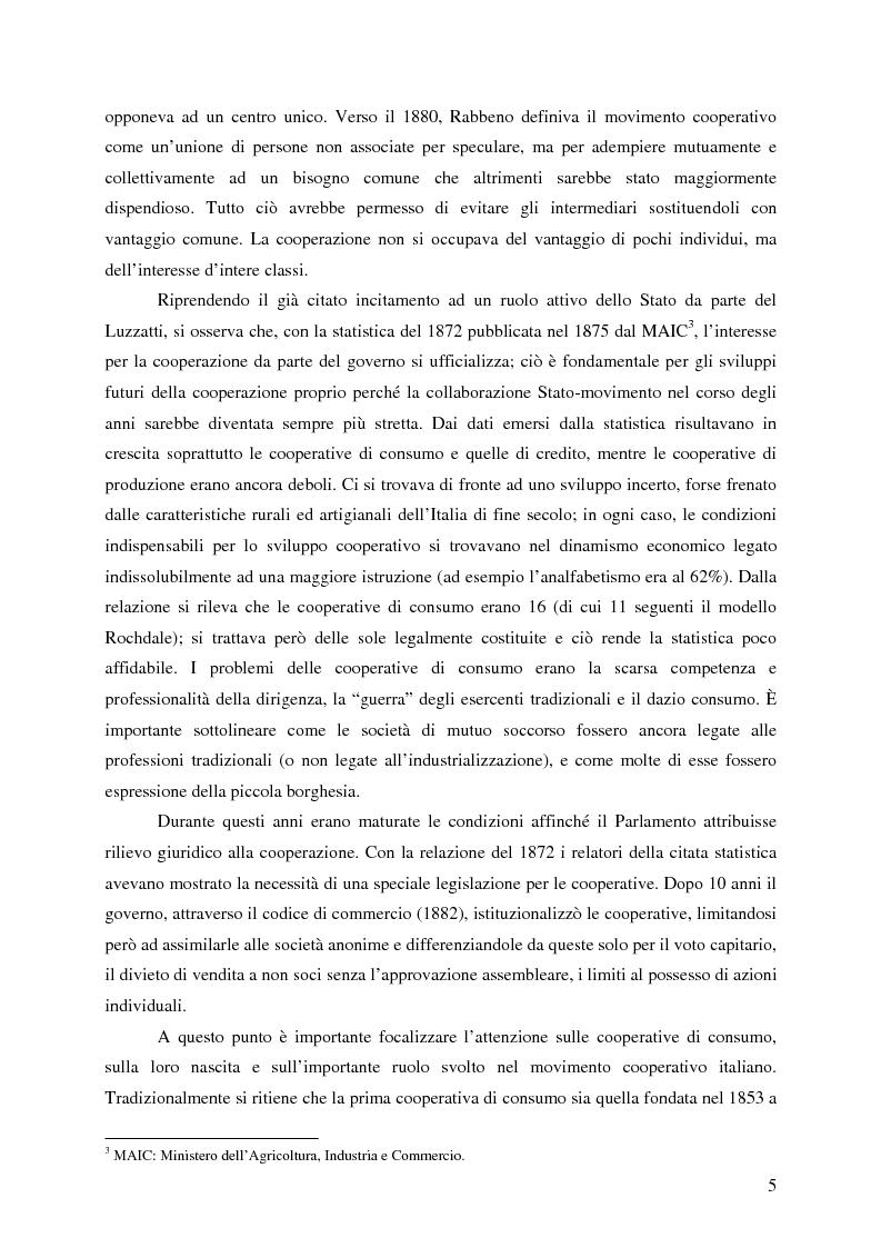 Anteprima della tesi: Lo sviluppo della cooperazione di consumo in Carnia nei primi decenni del '900: il caso COOPCA, Pagina 3