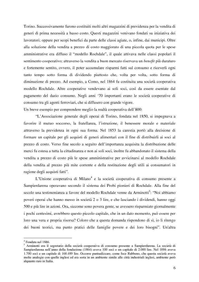 Anteprima della tesi: Lo sviluppo della cooperazione di consumo in Carnia nei primi decenni del '900: il caso COOPCA, Pagina 4