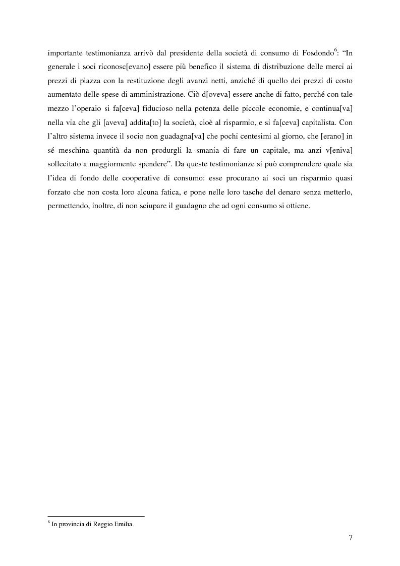 Anteprima della tesi: Lo sviluppo della cooperazione di consumo in Carnia nei primi decenni del '900: il caso COOPCA, Pagina 5