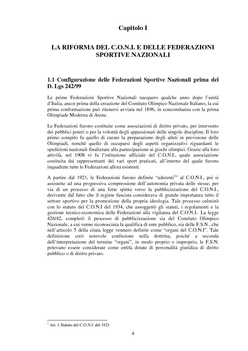 Anteprima della tesi: Il sistema informativo contabile delle Federazioni Sportive, Pagina 2