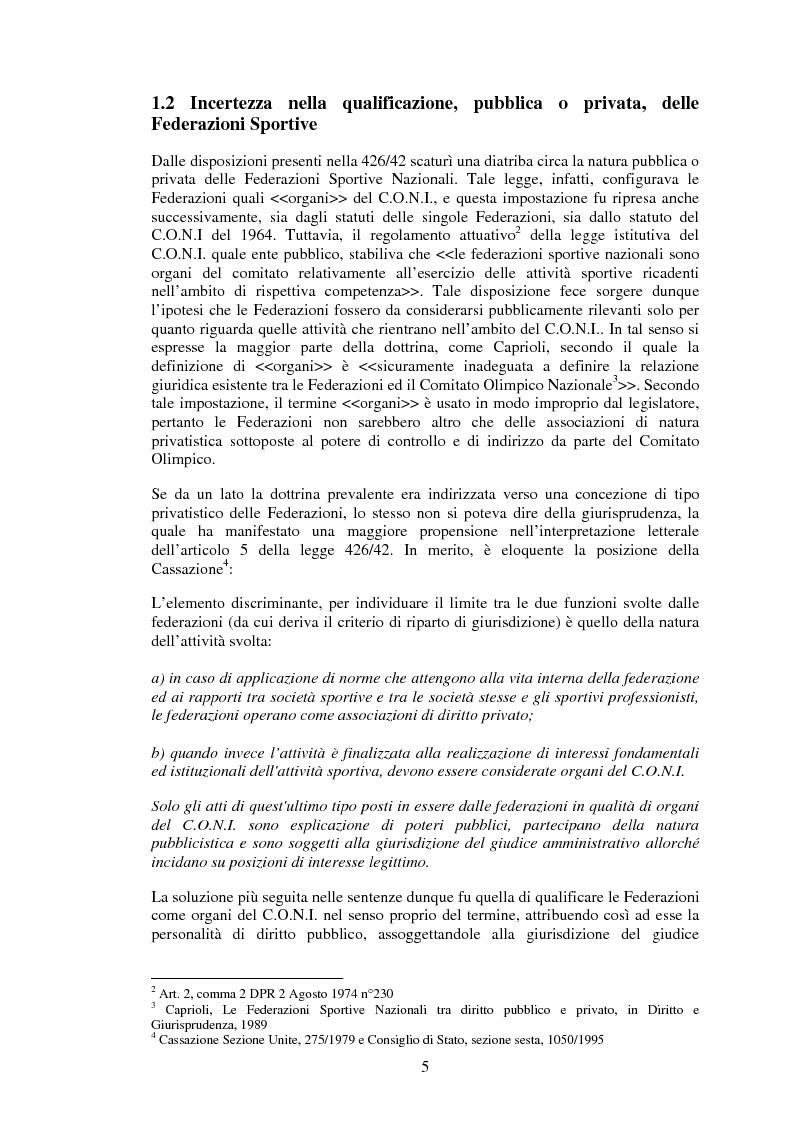 Anteprima della tesi: Il sistema informativo contabile delle Federazioni Sportive, Pagina 3
