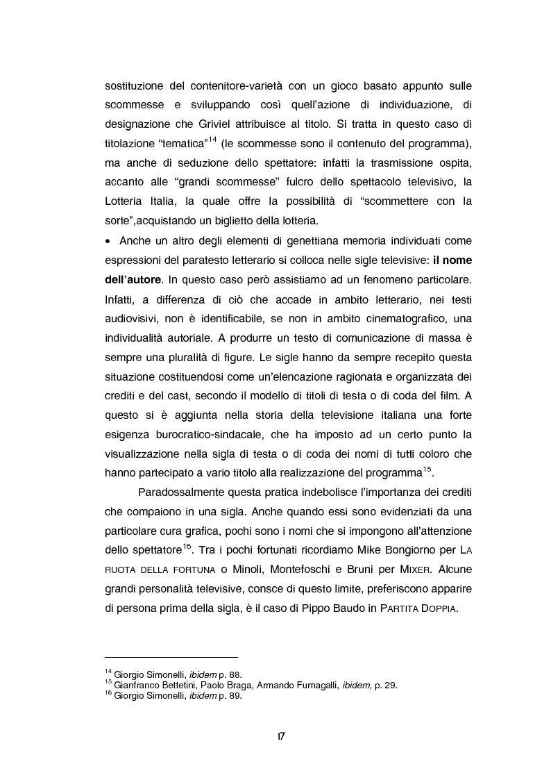 Anteprima della tesi: Teoria e tecnica della sigla televisiva - Il paratesto televisivo e la sua applicazione pratica, Pagina 12