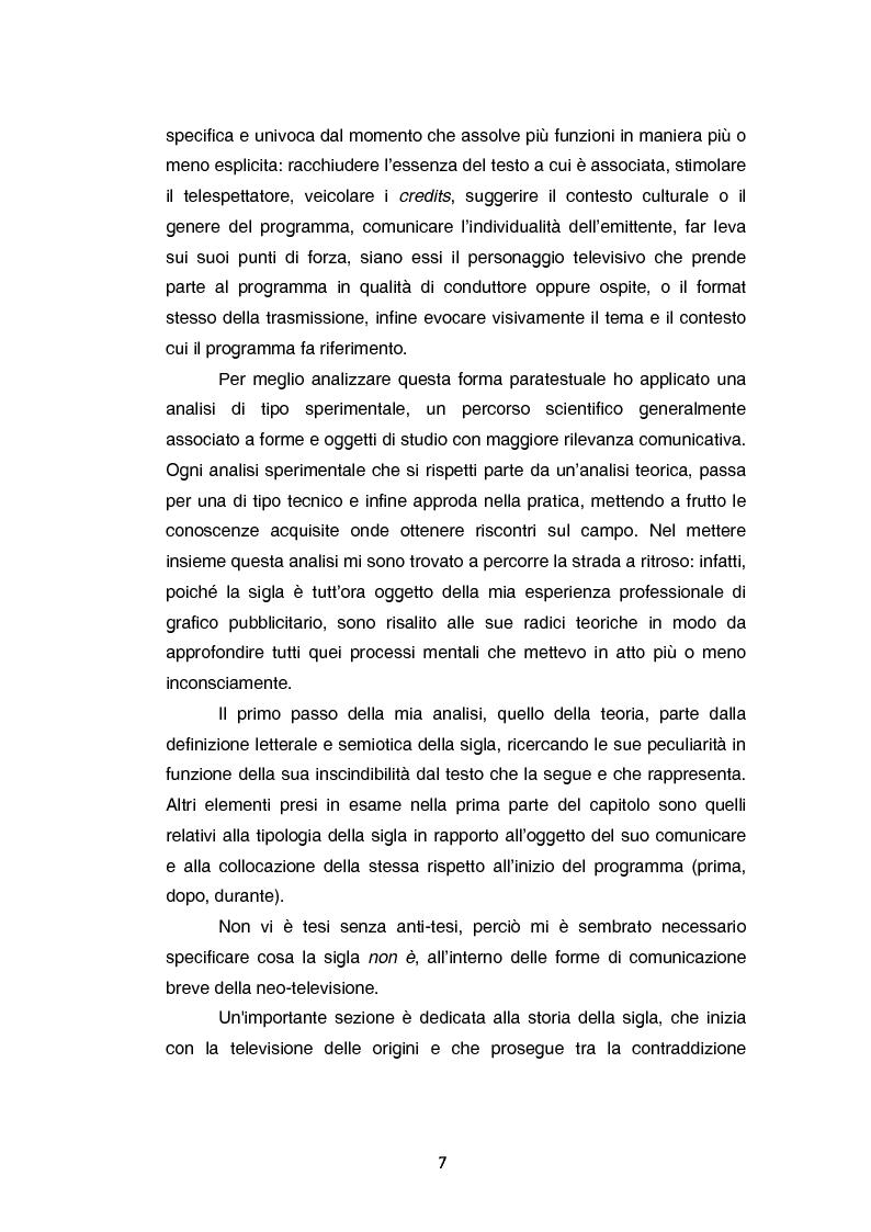 Anteprima della tesi: Teoria e tecnica della sigla televisiva - Il paratesto televisivo e la sua applicazione pratica, Pagina 2