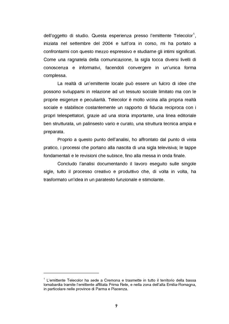 Anteprima della tesi: Teoria e tecnica della sigla televisiva - Il paratesto televisivo e la sua applicazione pratica, Pagina 4