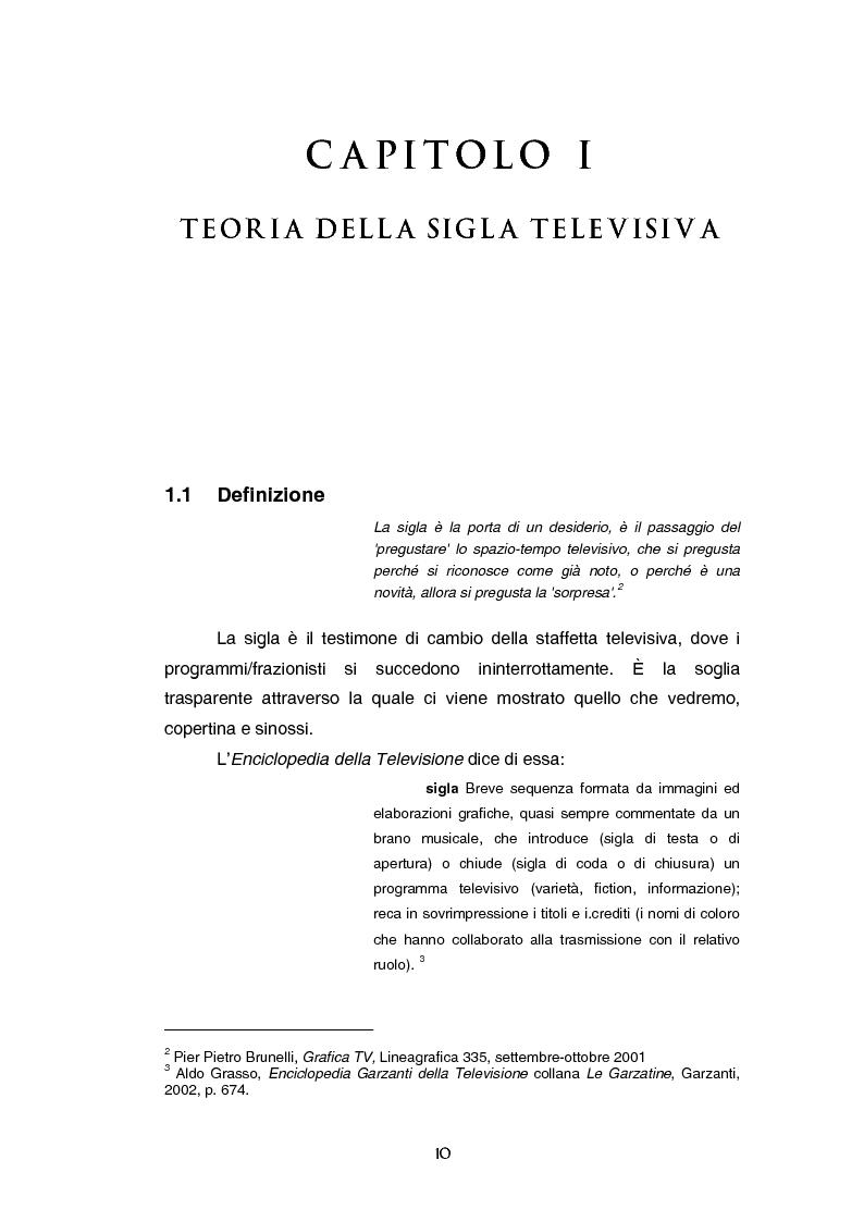 Anteprima della tesi: Teoria e tecnica della sigla televisiva - Il paratesto televisivo e la sua applicazione pratica, Pagina 5