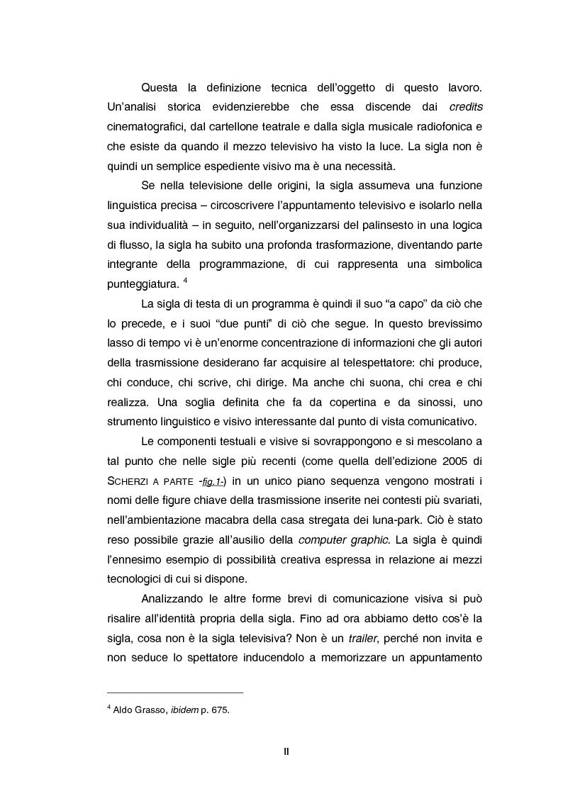 Anteprima della tesi: Teoria e tecnica della sigla televisiva - Il paratesto televisivo e la sua applicazione pratica, Pagina 6