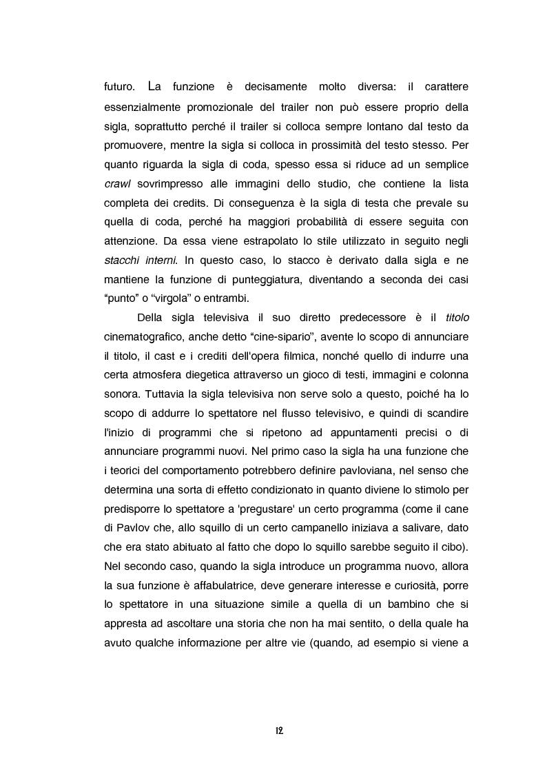 Anteprima della tesi: Teoria e tecnica della sigla televisiva - Il paratesto televisivo e la sua applicazione pratica, Pagina 7