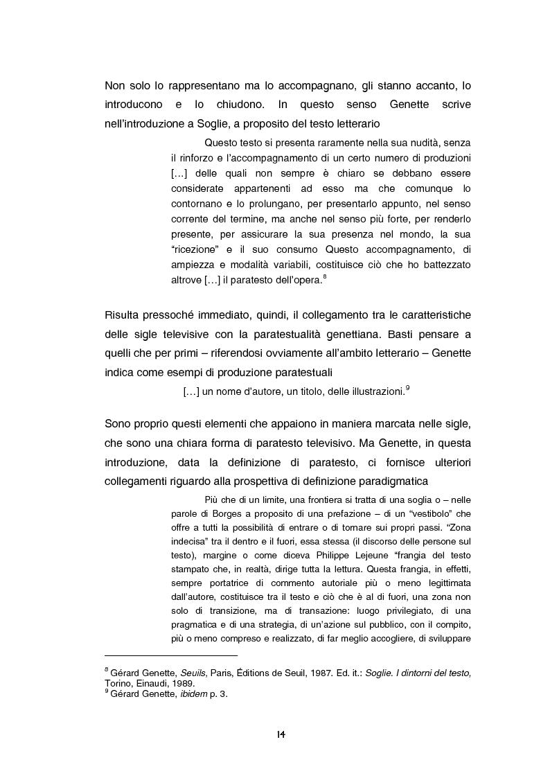 Anteprima della tesi: Teoria e tecnica della sigla televisiva - Il paratesto televisivo e la sua applicazione pratica, Pagina 9