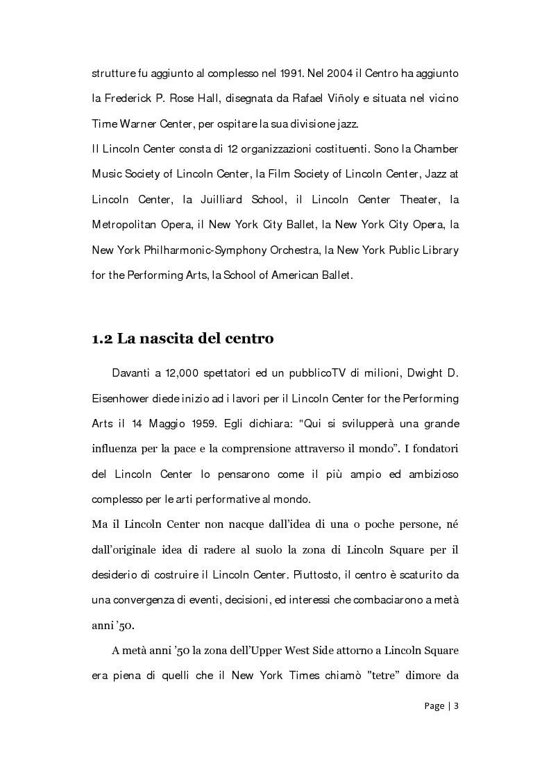 Anteprima della tesi: Il posizionamento strategico della Film Society of Lincoln Center, Pagina 2