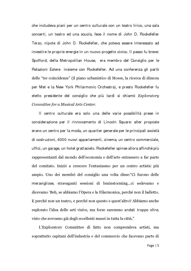 Anteprima della tesi: Il posizionamento strategico della Film Society of Lincoln Center, Pagina 4