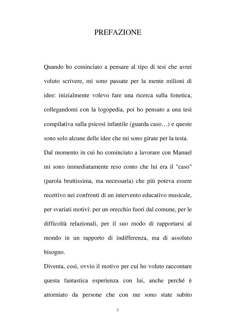Anteprima della tesi: La relazione musicale, Pagina 1