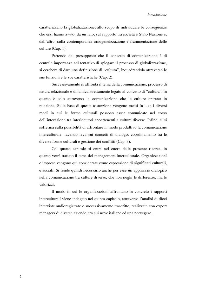 Anteprima della tesi: Il Management Interculturale: un'analisi di esperienze, Pagina 2