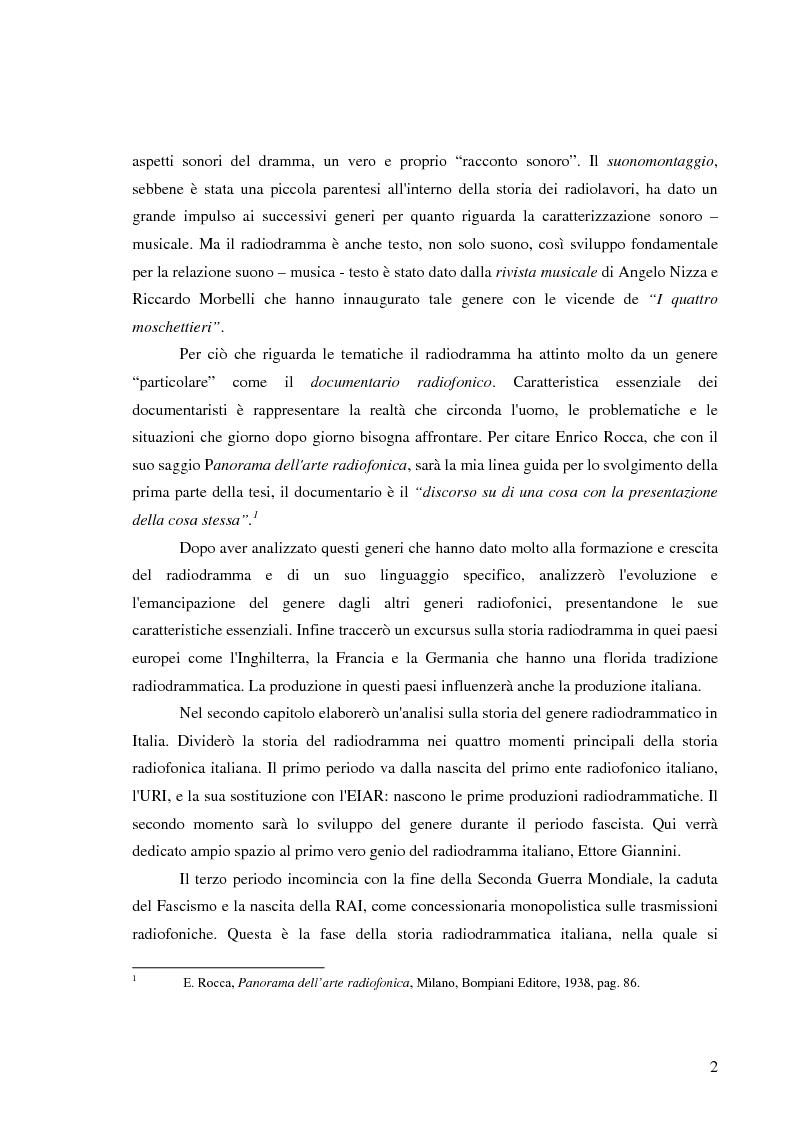 Anteprima della tesi: Radiodramma: origini del genere e la sua evoluzione alla RAI, Pagina 2