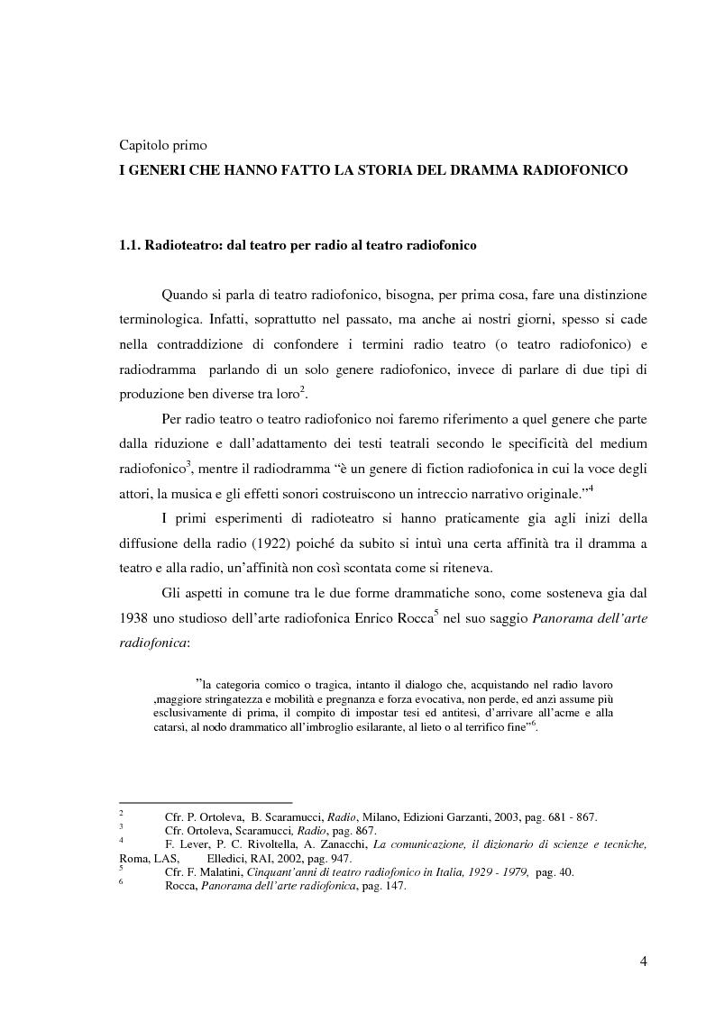 Anteprima della tesi: Radiodramma: origini del genere e la sua evoluzione alla RAI, Pagina 4