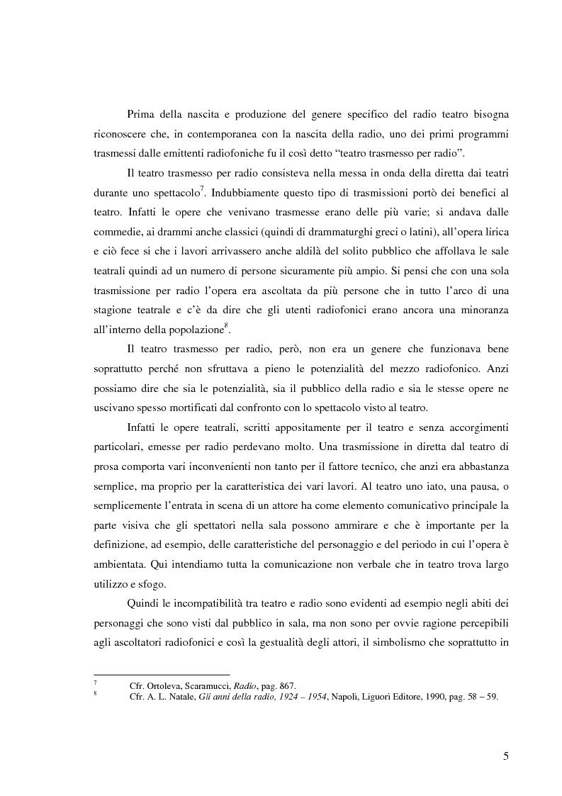 Anteprima della tesi: Radiodramma: origini del genere e la sua evoluzione alla RAI, Pagina 5