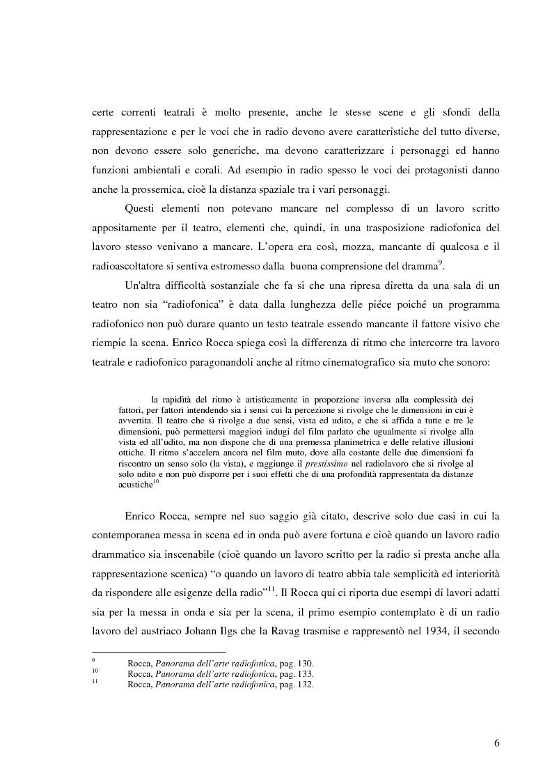 Anteprima della tesi: Radiodramma: origini del genere e la sua evoluzione alla RAI, Pagina 6