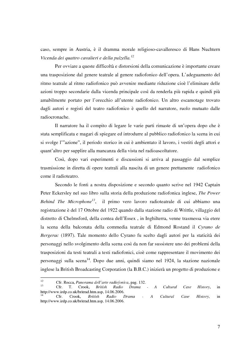 Anteprima della tesi: Radiodramma: origini del genere e la sua evoluzione alla RAI, Pagina 7