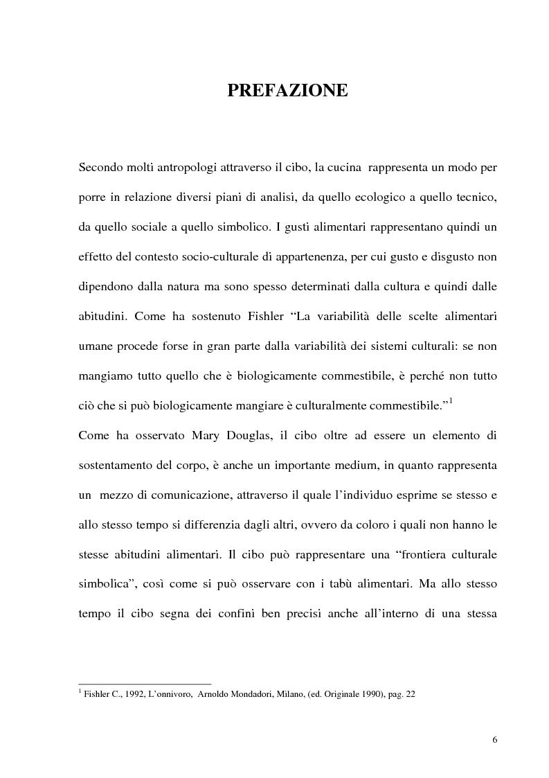 Anteprima della tesi: Le frontiere culturali del cibo, Pagina 1