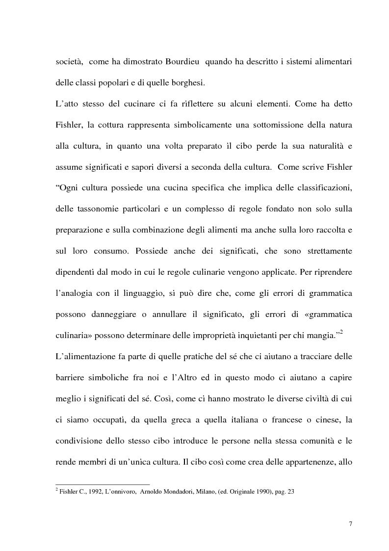 Anteprima della tesi: Le frontiere culturali del cibo, Pagina 2