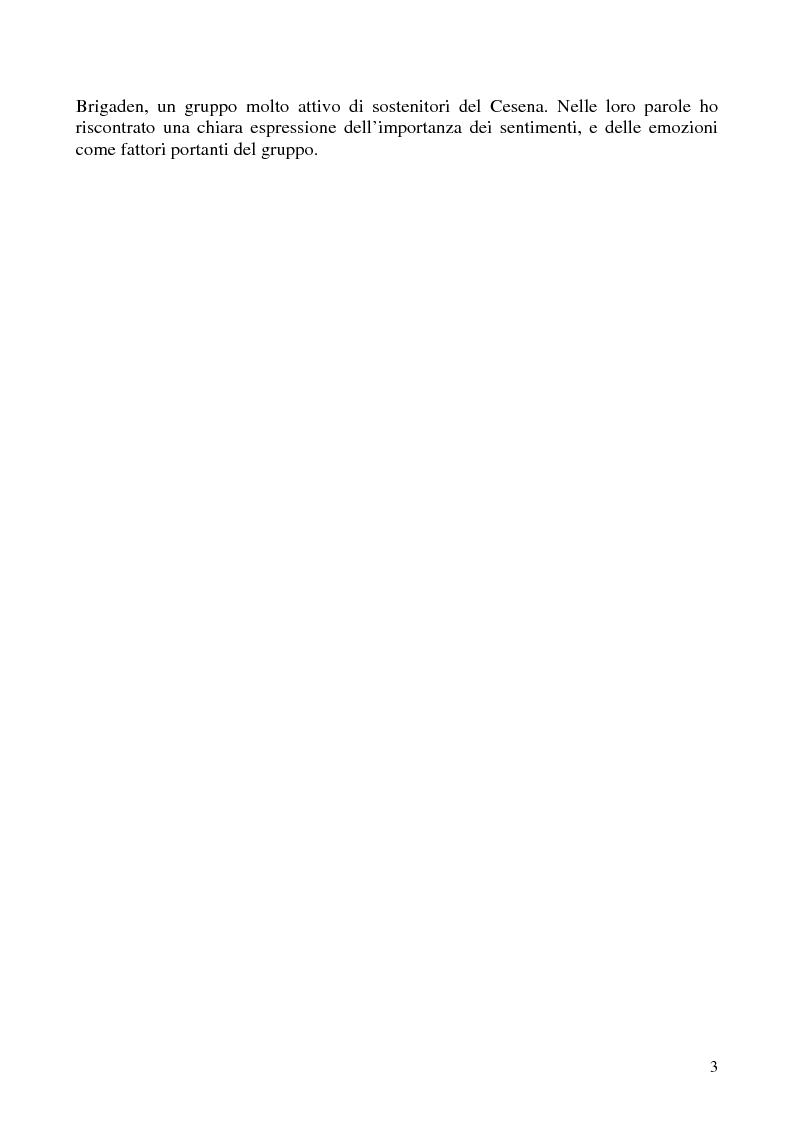 Anteprima della tesi: Amore e odio nei gruppi ultra del calcio - Dinamiche dell'aggressività da Gustav Le Bon ad Alessandro Dal Lago, Pagina 2