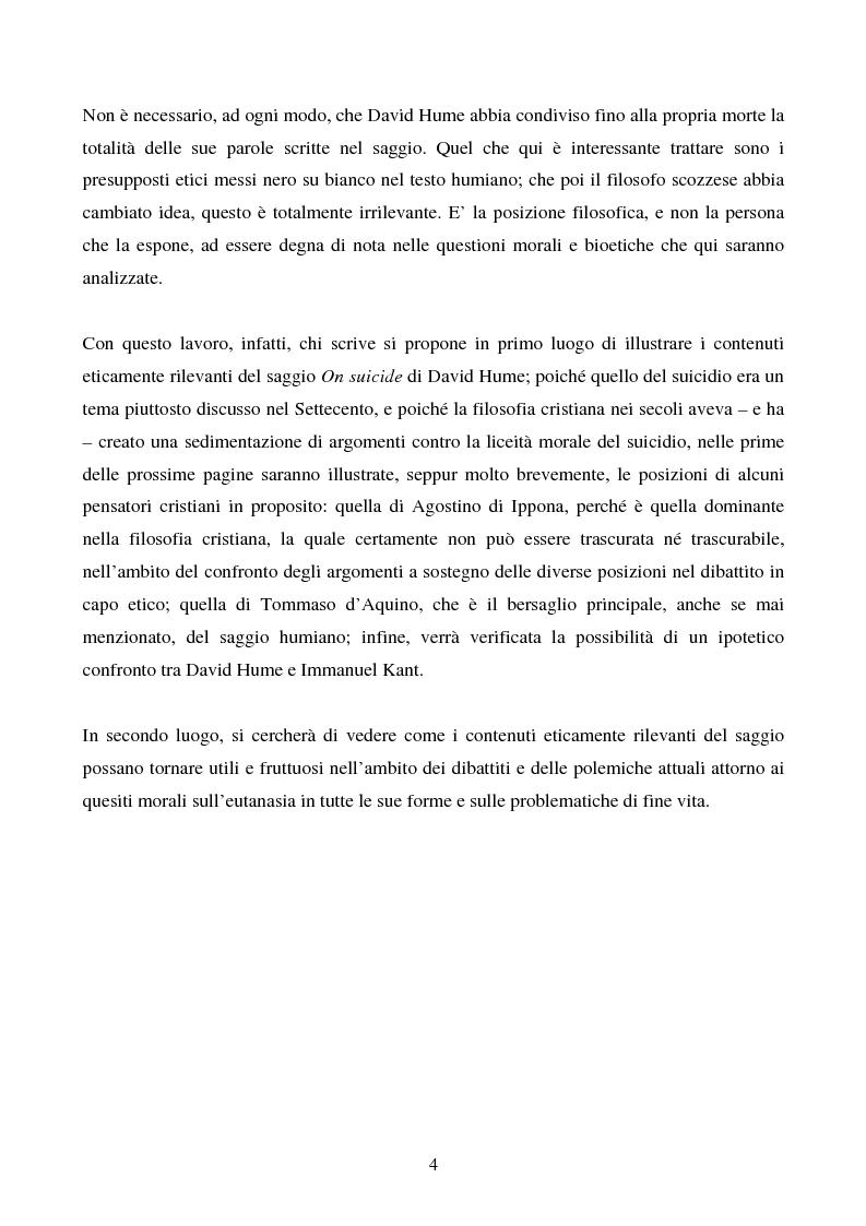 Anteprima della tesi: Il saggio di Hume ''On Suicide'', Pagina 2