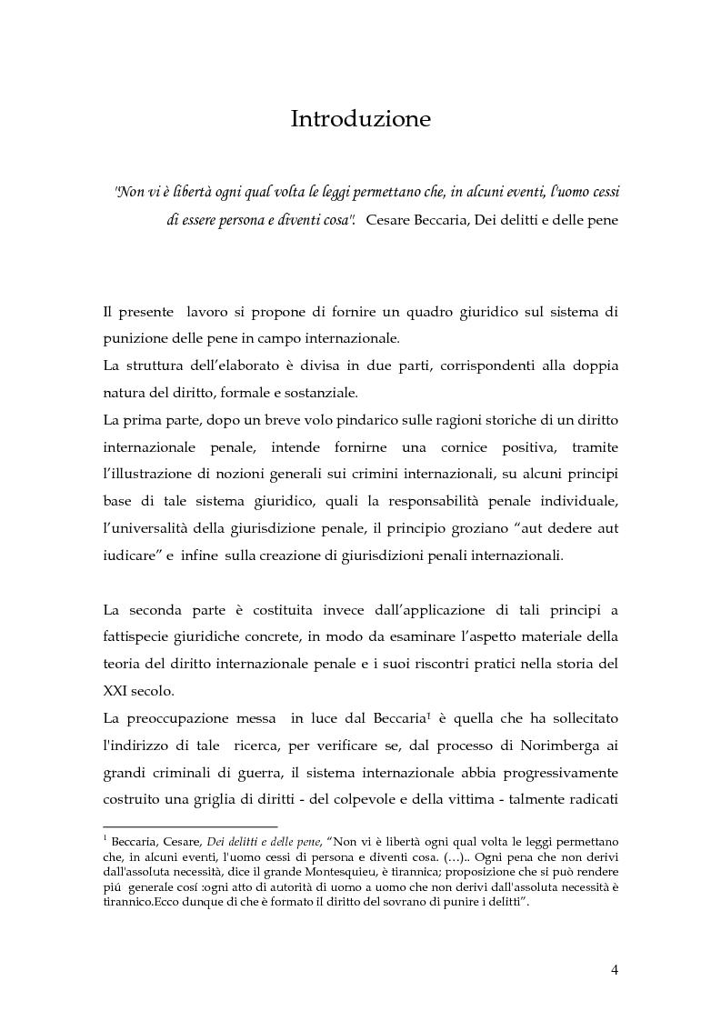 Anteprima della tesi: La punizione dei crimini internazionali, Pagina 1