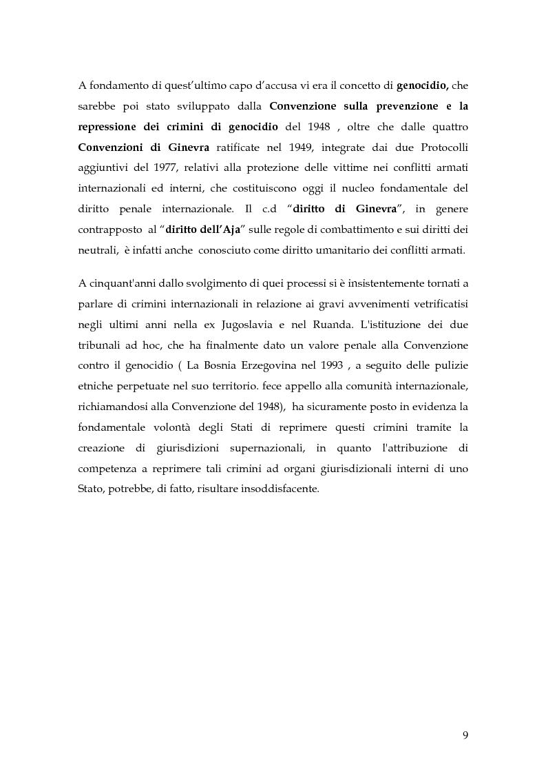 Anteprima della tesi: La punizione dei crimini internazionali, Pagina 6