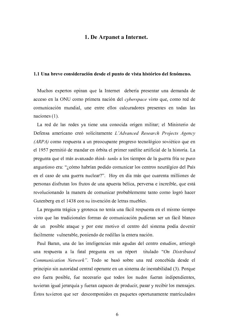 Anteprima della tesi: Internet: las nuevas fronteras de la comunicaciòn, Pagina 4